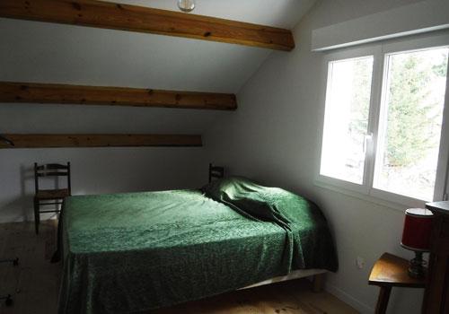 Vue d'une chambre du gîte rural Lou Saltret en Lozère